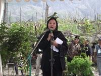 Allisa Wahid (putri pertama Gus Dur) memberi sambutan pd ceremonial PALM