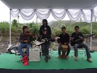 Para mahasiswa ISI Jogja ikut memeriahkan ceremonial PALM di Lereng Merapi