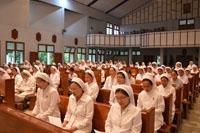 Ekaristi pembukaan pertemuan BKU dihadiri oleh para Suster CB yg tinggal di Yogyakarta