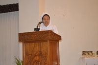 Provinsial CB Provinsi Indonesia Sr. Carolina CB menyampaikan Welcome Address