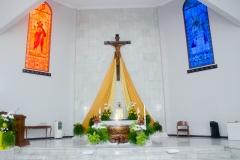 Dekorasi Altar Kapel Maria Bintang Samudera