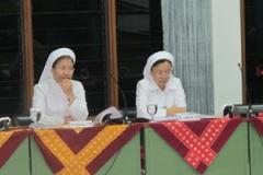 Sidang Kapitel dihadiri oleh Jenderal CB (Sr. Rosaria) dan wakilnya (Sr. Lisbeth)