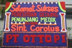 06 Ucapan Selamat dari PT Otto PI atas Pemberkatan Ruangan Poliklinik Bengkulu