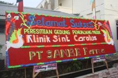 06 Ucapan Selamat dari PT Sanbe Farma atas Pemberkatan Ruangan Poliklinik Bengkulu